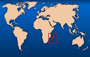 madagascar sur la carte du monde